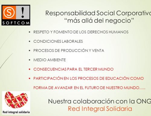 La Responsabilidad Social Corporativa de Softcom se llama Red Integral Solidaria